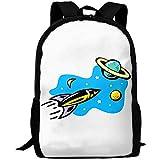 Schultasche,Rocketry Sun Moon Star Saturn Erwachsener Reiserucksack Schule Casual...