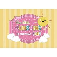 GooEoo 9x6ft 漫画のデザインスタイルのテーマ子供たちが漫画の太陽を回すための小さな日差し黄色のストライプ写真の背景スタジオ写真ブースの背景家族の休暇の誕生日パーティービニール素材
