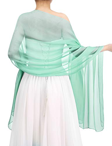 Bbonlinedress Schal Chiffon Stola Scarves in verschiedenen Farben Mint Green 190cmX70cm