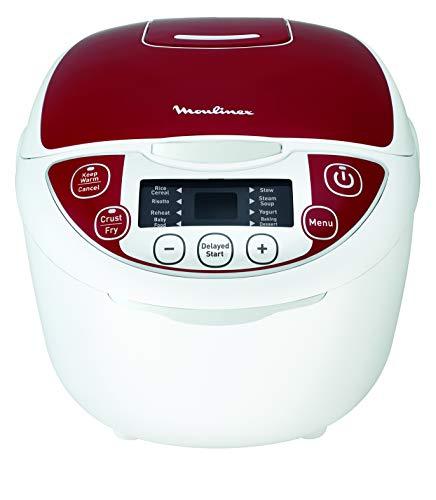 Moulinex Multicuiseur 12 Programmes, Cuiseur Riz, Cuiseur Vapeur, Capacité 5L, Puissance 750W, Cuve Antiadhésive Amovible, Technologie Fuzzy Logic MK705111