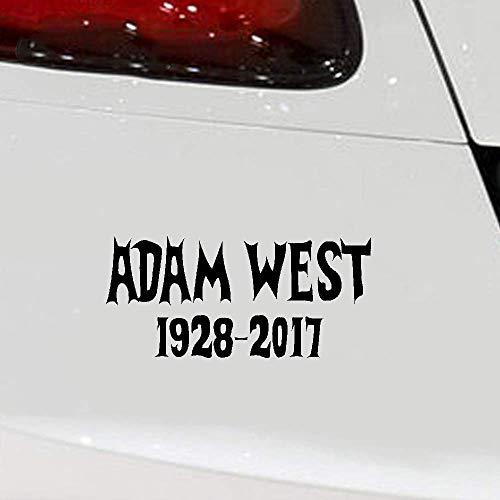 Autocollants de décoration de pare-chocs de voiture de super-héros de 18 * 12 cm Adam West vinyle autocollant Batman Rip famille Guy de Dvd Batcar Gotham bande dessinée