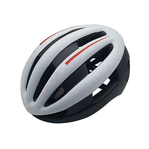 Kaper Go Helm Mountain Bike Fahrradhelm Erwachsene Einteiliger Schutz Skating Skateboard Helm Unisex Helm (Color : Black White)