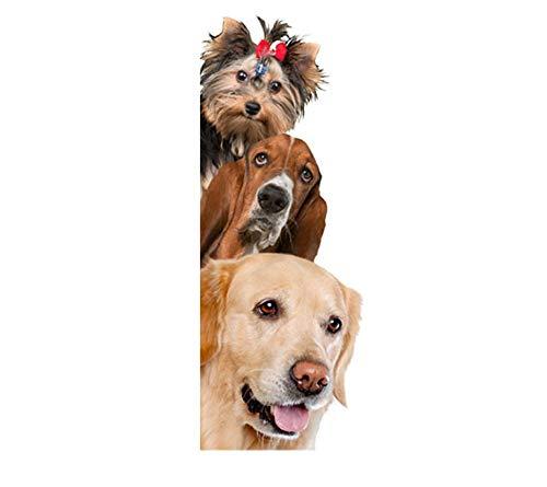 Etiqueta de la pared 3D Perros para Niños Puerta Divertida Ventana Armario Nevera Decoraciones Decoración para el Hogar Animal de Dibujos Animados de Vinilo calcomanía