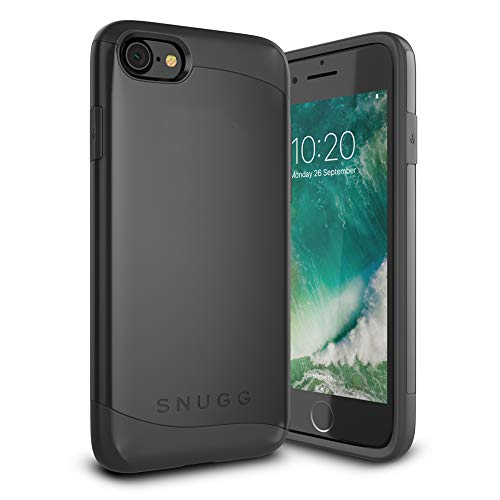 Snugg iPhone SE (2020) / 8 / 7 Hülle, Apple iPhone SE Stoßfeste Schutzhülle Hülle Tasche [Infinity Range] Schützende Hardcase – Schwarz