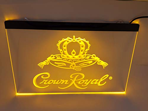 yellow Crown Royal Bar Pub Led Light Sign