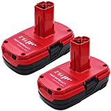 2 Packs 19.2 Volt 3.0Ah Replacement Battery Compatible with Craftsman C3 19.2 Volt Battery DieHard Lithium-ion 315.115410 315.11485 130279005 1323903 120235021 11375 11376 315.PP2011