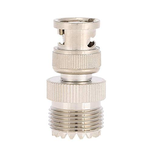 PL259-aansluiting coaxiale adapter, messing vernikkeld BNC-stekker op UHF-bus coaxiale adapter voor antenne, radio, WLAN, coaxiale kabel, LMR, draadloze LAN-apparaten, videobewaking