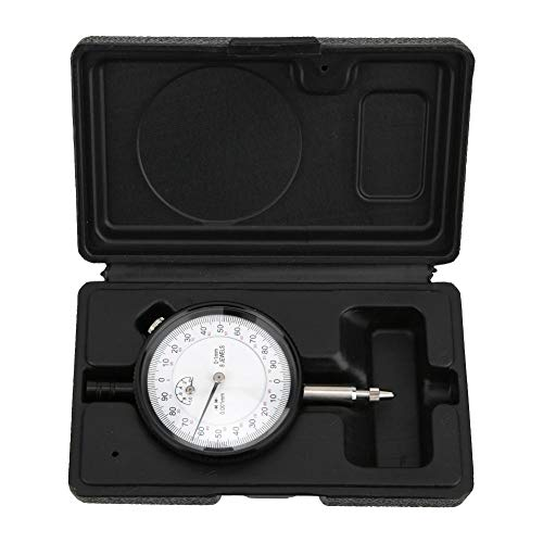 Dial Indicator Gauge,Stainless Steel Dial Gauge Measuring Tool,Shockproof High-Precision 0.001mm Range 0-1mm,with Jewel Bearing Support