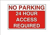 いいえ駐車場24時間のアクセスは、設計金属サインを必要としました