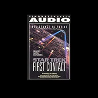 Star Trek: The Next Generation: First Contact (Adapted)                   By:                                                                                                                                 J.M. Dillard                               Narrated by:                                                                                                                                 Gates McFadden                      Length: 3 hrs and 5 mins     29 ratings     Overall 4.4