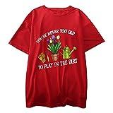 Camiseta de manga corta para mujer, diseño con texto en inglés 'I'll Be in My Office', ideal para regalos de jardín