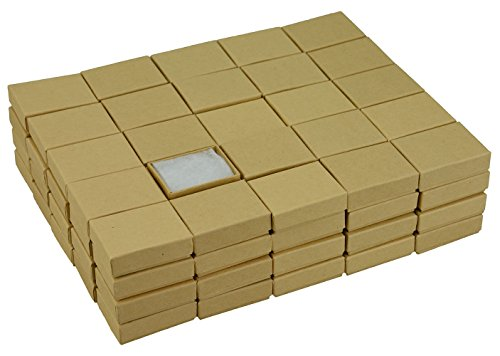 JPB Kraft Cotton Filled Jewelry Box #11 (Case of 100) 2 inches x 1.5 inches