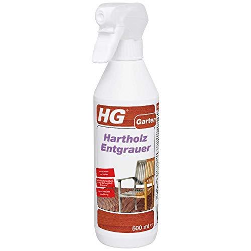 HG Hartholz Entgrauer 500 ml – ein Holzentgrauer, der stumpfes Hartholz wieder frisch und sauber aussehen lässt