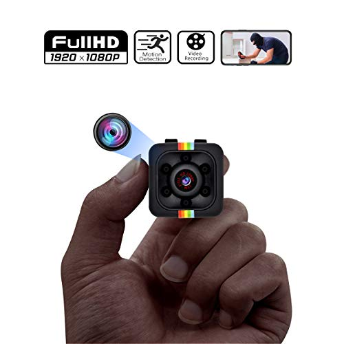 Hidden Camera, Full HD 1080P Security Mini Camera, Hidden Spy Camera with Motion Detection and Infrared Night Vision, Compact Hidden Spy Cam, Wireless Nanny Cam for Home, Car, Drone, Office