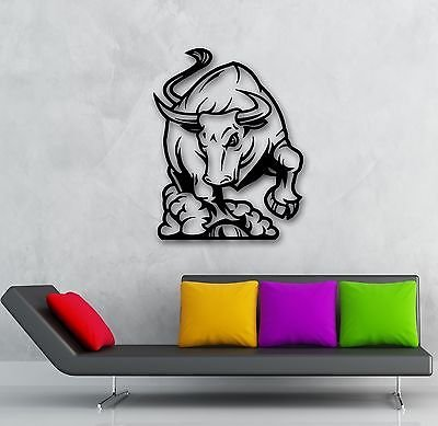 Wall Stickers Vinyl Decal Raging Bull Bullfight Animal Great Home Decor (VS781)