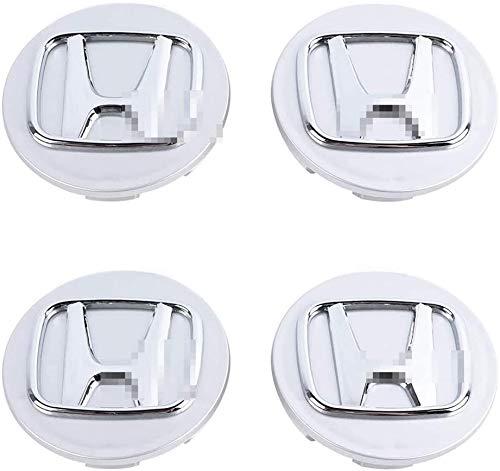 MISSLYY 4 Piezas Coche Tapas Centrales de Llantas para Honda Accord Civic CR-V HR-V Jazz,con el Logotipo De Insignia Rueda Tapas De Centro Prueba De Polvo Accesorios De Decorativo De Automóvil