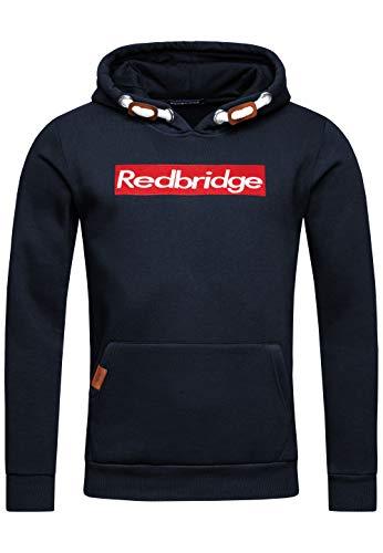 Redbridge Herren Kapuzenpullover Dicke Kordel Sweatshirt Hoodie Casual Pullover (XXL, Navy)
