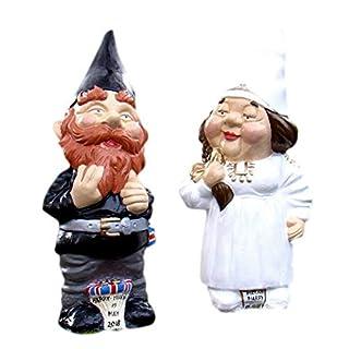 GARDEN GNOME WEDDING COUPLE