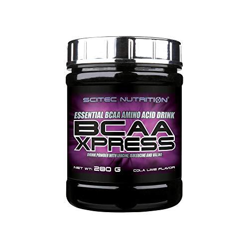 Scitec Nutrition BCAA Xpress, Bebida en polvo de aminoácidos esenciales BCAA con leucina, isoleucina y valina, 280 g, Cola-Lima