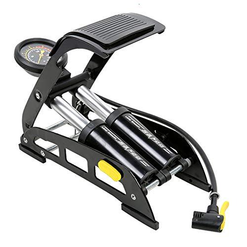 guiruo 2021 Pedal Pump Hochdruck tragbares Fahrrad/Elektrofahrrad/Motorrad/Auto/Fitnessgeräte/Bälle/aufblasbare Produkte Pedal Luftpumpe Doppelzylinder Pedal Präzisions Manometer Reifenfüller