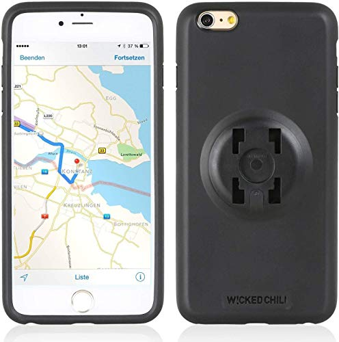 Wicked Chili QuickMOUNT Case kompatibel mit iPhone 6 Plus, 6S Plus Handy Schale, Schutzhülle, HR, iGrip KFZ, Auto, Fahrrad, Halterung, Bike Mount Halteschale