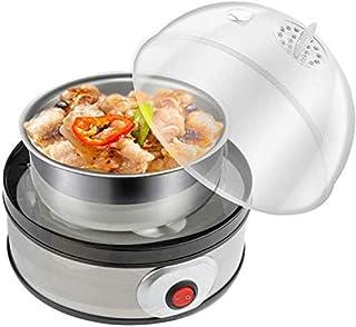 DKEE Huevo Cocina eléctrica de 7 capacidades para hervidos, escalfados, Huevos revueltos, o Tortillas con función de Apaga...