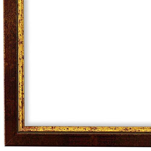 Bilderrahmen Rot Gold 28 x 35 cm - Modern, Klassisch - Alle Größen - handgefertigt - Galerie-Qualität - WRF - Sanremo 1,8