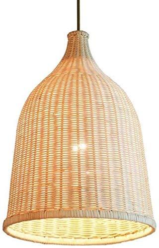 ZXLRH Candelabro Pantalla De Madera Pantalla De Mimbre De Bambú Accesorios De RatáN Luces Colgantes IluminacióN Primitiva LáMpara De Techo Colgante, 29 Cm * 42 Cm