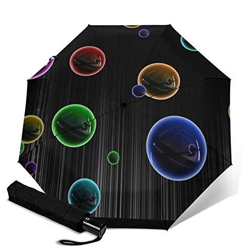 Bubble,Premium Umbrella Windproof - Compact Umbrella Automatic - Travel Umbrella Folding - Portable Umbrella Auto - Mens Travel Umbrella