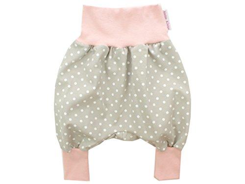Kleine Könige Pumphose Baby Mädchen Hose · Modell Dots Punkte Beige, Altrosa · Ökotex 100 Zertifiziert · Größen 62/68