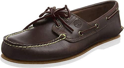 Timberland Classic 2 Eye, Scarpe da Barca Uomo, Marrone (Med Brown Full Grain), 47.5 EU