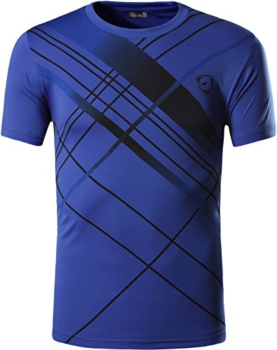jeansian Hombre Camisetas Deportivas Wicking Quick Dry tee T