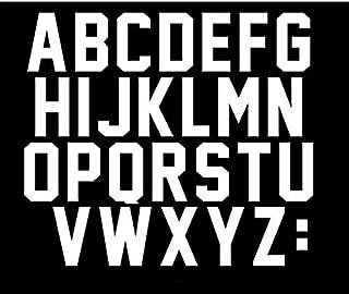 3 inch Letters Iron On Heat Transfer Vinyl for Parade T Shirt Sports T-Shirt Jersey Football Baseball,Team,t-Shirt (White)