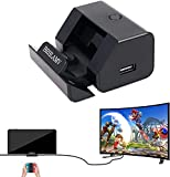 Portable Dock for Switch, BRHLAMV Mini Small Cradle Hub Connector, Pocket Travel Replacement Adapter for TV Docking Station on Trip, Compact with HDMI, USB 3.0, USB 2.0 x2 and Charging Ports