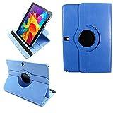 COOVY 2.0 Funda para Samsung Galaxy Note 10.1 (Model 2014) SM-P6000 P6010 P6050 SM-P600 P601 P605 Smart 360º Grados ROTACIÓN Cover Case Protectora Soporte Auto Sueño/Estela | Azul Claro
