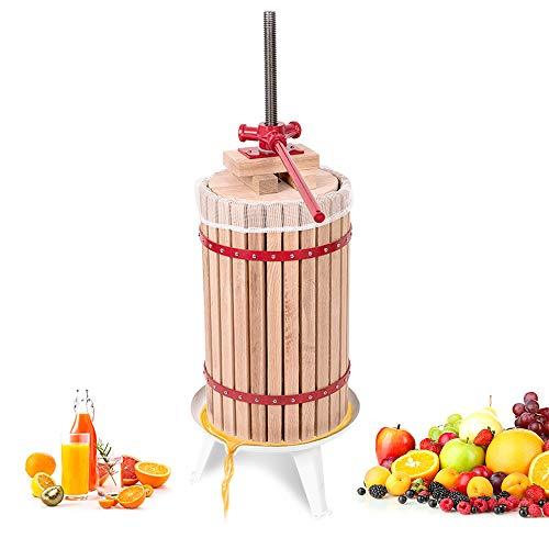 Aufun 30L Prensa de Frutas Prensa de Frutas Prensa de vinos Exprimidor de jugos Mash Press Fruit Mill