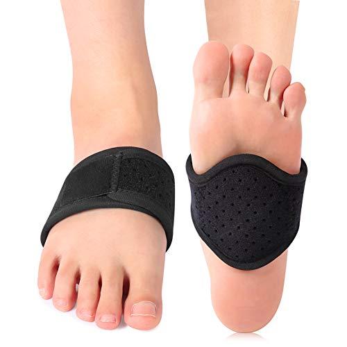 ANGGREK 1 paire de poinçonnage amélioré Foot Arch Pad Pad en caoutchouc noir
