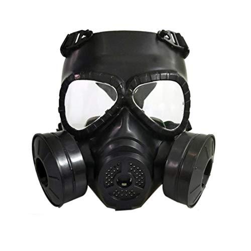 Volledige Seal Gas Mask Respirator Anti-Dust Gas volgelaats Cosplay Game masker met 180 Panoramic View voor Schilderen Dust Particulate Machine polijsten Work Protection,Black