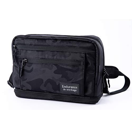 Endurance シューティングマルチ カメラバッグ ショルダーバッグ レンズ交換用バッグ (ブラック迷彩)