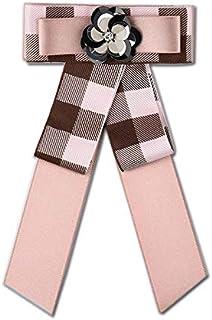 CBCJU Arco con Lentejuelas Flor Tela Escocesa Broche Accesorios de Vestir de Moda 21 * 12 cm
