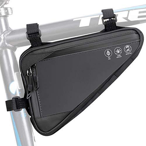 Fahrrad-Stativ-Tasche, wasserdichtes und reflektierendes Fahrrad-Front-Lenker-Tasche, Strap-On-sattelförmige Radtasche Aufbewahrungsschlauch-Tasche, Mini-Pumpe für Reiten im Freien Mountainbike
