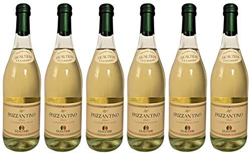 Frizzantino bianco dolce Gualtieri Dell`Emilia IGT (6 x 0,75 L) - Vino Frizzante - Weißer Süßer Perlwein 7,5{1eedf4dd0a8d918822c477990067e23588ef4de2f20eefd631f7ae01a2e17eac} Vol. aus Italien