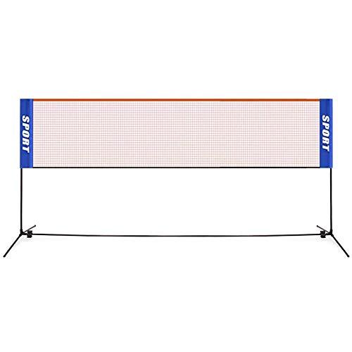 Ensemble de filet de badminton portable pour badminton, filet en nylon avec poteaux pour intérieur et extérieur...