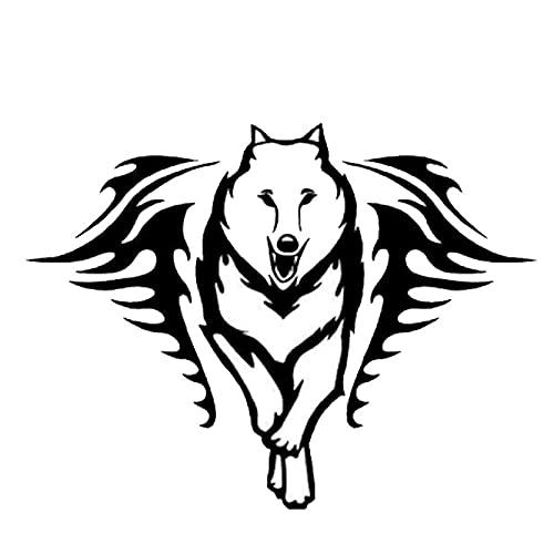 SHMAZ 15.2 * 11.5Cm Husky Dog With Flame Car Stickers Nice Cool Decals Car Styling Decorative Accessories Black/Silver