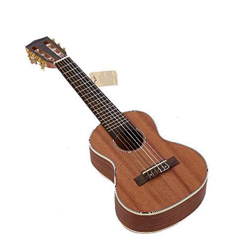 LOIKHGV 28 Zoll Sechs Saiten Akustikgitarre Ukulele Klassische Holzgitarren mit 18 Tönen Mini Travel Guitar Instruments Guitalele, 28 Zoll