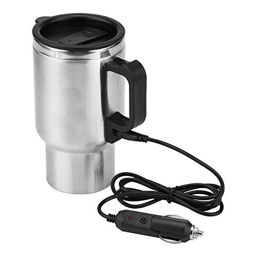 PIANYIHUO HervidorHervidor eléctrico para coche de 300 ml, 12 V / 24 V CC, taza de refrigeración para calefacción de coche, hervidor eléctrico para coche, taza calefactora USB de viaje