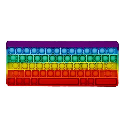 Rpporm Tastatur Fidget Toy Packung Sinnes Fidget Spielzeug Set Push-Pop-Blase Spielzeug-Druck-Anxiety Relief Spielzeug Set Toys für ADD autistische Kinder und Erwachsene