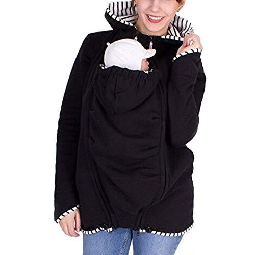 Sudadera Canguro con Capucha Mujer Camisa Casual Suéter Multifunción De Mujeres Portador de Bebé Premamá Manga Larga Sudaderas Portabebés Chaqueta Outwear Otoño Invierno
