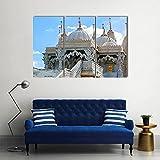 WERSD 3 Piezas Cuadros Lienzo Baps Shri Swaminarayan Mandir, Londres Moderno Impresiones En HD Fotos Decoración para El Hogar 3 Piezas Artística Cuadros