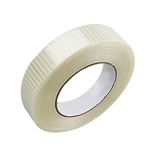 Filamentklebeband Fiberglasband Verstärktes Gitterband Klebeband Transparentes Glasfaserband Verpackungsbänder (1 Rolle) 50m lang, 25mm breit